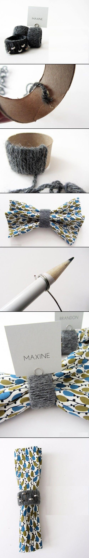 stunninghubs: DIY Yarn Napkin Rings