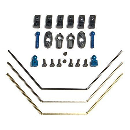 Team Associated 31269 FT Anti-Roll Bar Kit TC5 by Team Associated. $14.25. This is the Anti Roll Bar Kit for the Associated TC5.FEATURES: Metal and plastic constructionINCLUDES: One black anti roll bar One silver anti roll bar One gold anti roll bar Two balls Four ball ends Other misc. mounting hardware & screwsAssociatedPart ASC31269. Save 25%!