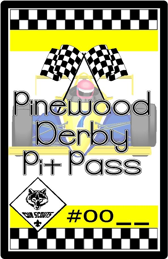pit pass 4 x 6 sm