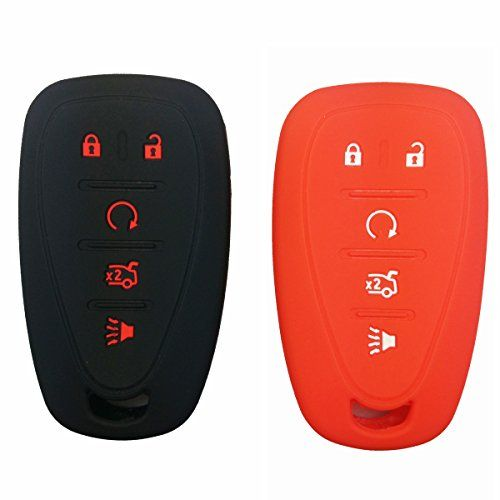 2Pcs Coolbestda Silicone 5buttons Smart Key Fob Cover Case Protector Remote Control Keyless Jacket for Chevrolet 2016 2017 Malibu Black Red. For product info go to:  https://www.caraccessoriesonlinemarket.com/2pcs-coolbestda-silicone-5buttons-smart-key-fob-cover-case-protector-remote-control-keyless-jacket-for-chevrolet-2016-2017-malibu-black-red/