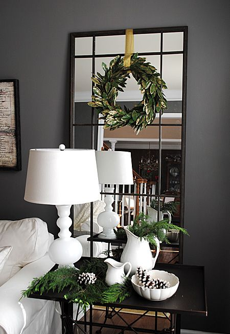 Like the idea of a mirror behind the bedside lamps. Maybe old window frames with mirror instead of glass.
