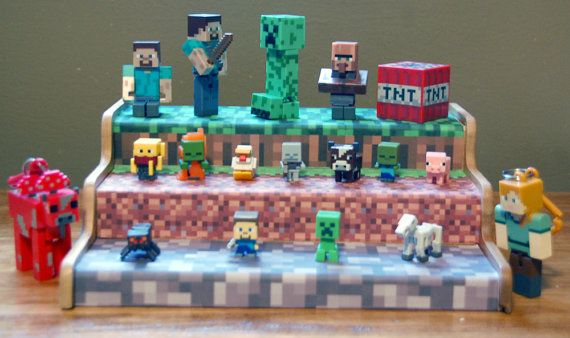 Display Stand for Minecraft Action Figures by CustomAchievements