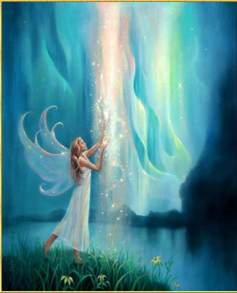 This is my Sharon fairy. She reminds me so much of her. She is in white with long blonde hair and she is playing in the water. Perfect for a Sharon Fairy