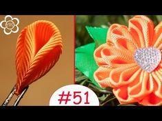Все Лепестки Канзаши #51 / Лепесток Канзаши Три Складочки - YouTube