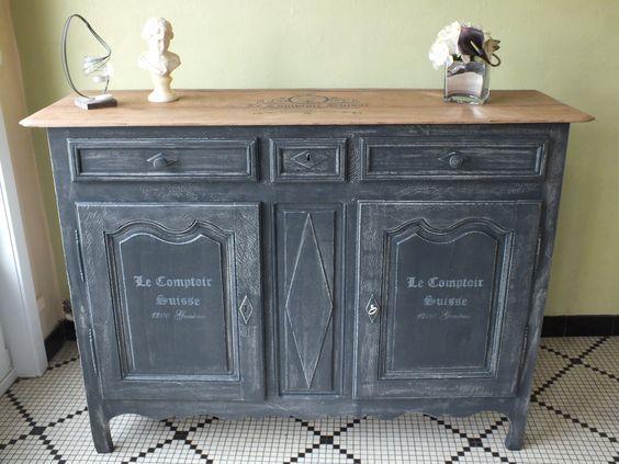17 meilleures id es propos de commode de pochoir sur - Peindre un vieux meuble sans le decaper ...