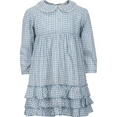 greta in winter blue check vintage girls dresses popular dresses