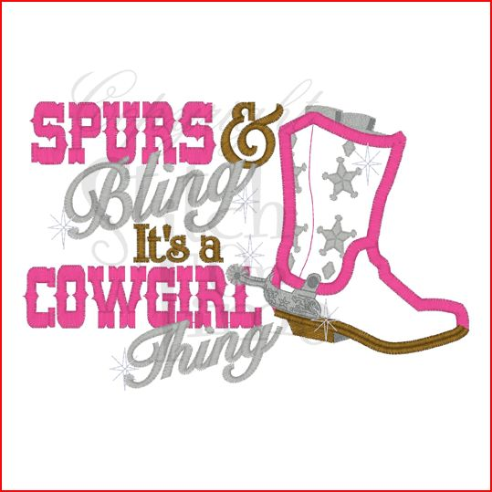 spurs and bling its a cowgirl thing