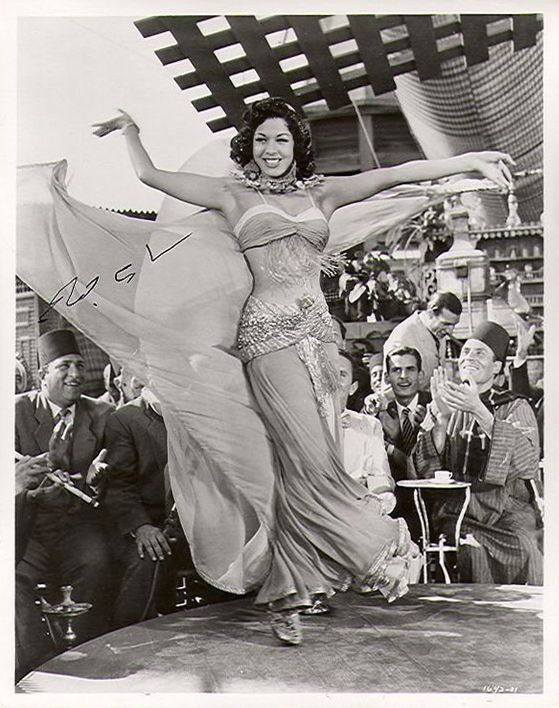 """Autographed photograph of Samia Gamal, taken from """"Valley of the Kings"""", 1954. سامية جمال"""