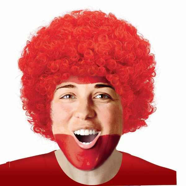 Red Afro Wig | Adult