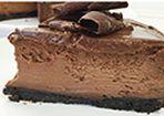Chocolate-Cheesecake mit Oreo-Boden
