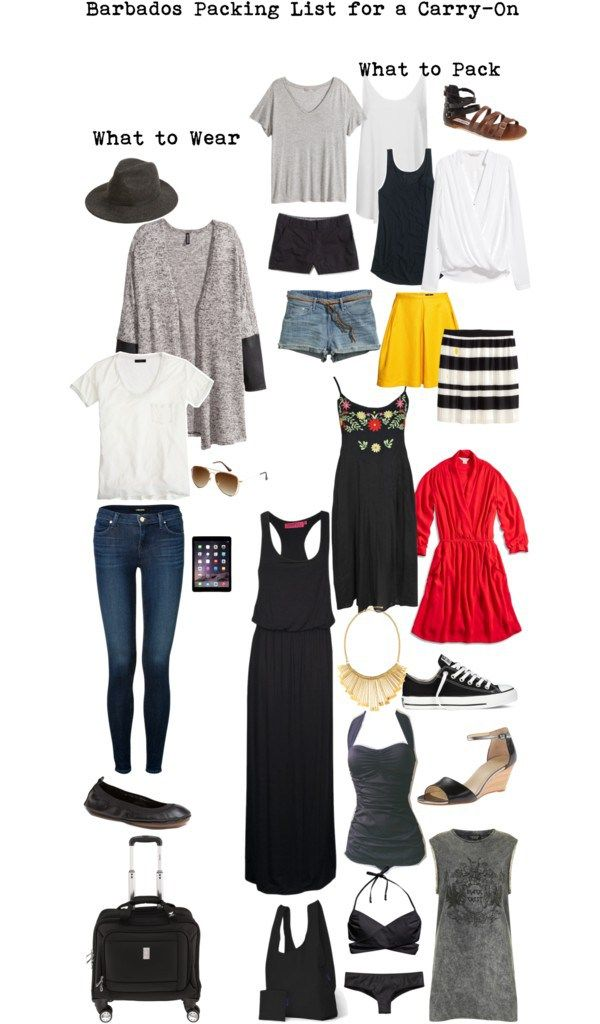 Warm weather destination packing list. Packing Light. Travel Light. Barbados Packing List for a Carry-On #packinglist #travellight #packinglight livelovesara.com
