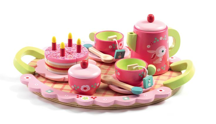 DJ6639 - Lili Rose Tea Party Set by Djeco. Distributed by Kaleidoscope.