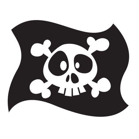 Stickers - KOMOA Design - Stickers DECORS DE PIRATE Drapeau 1