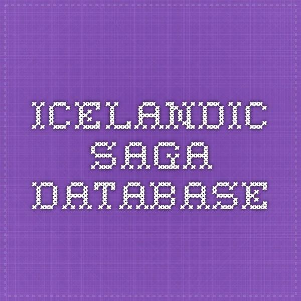 Icelandic Saga Database