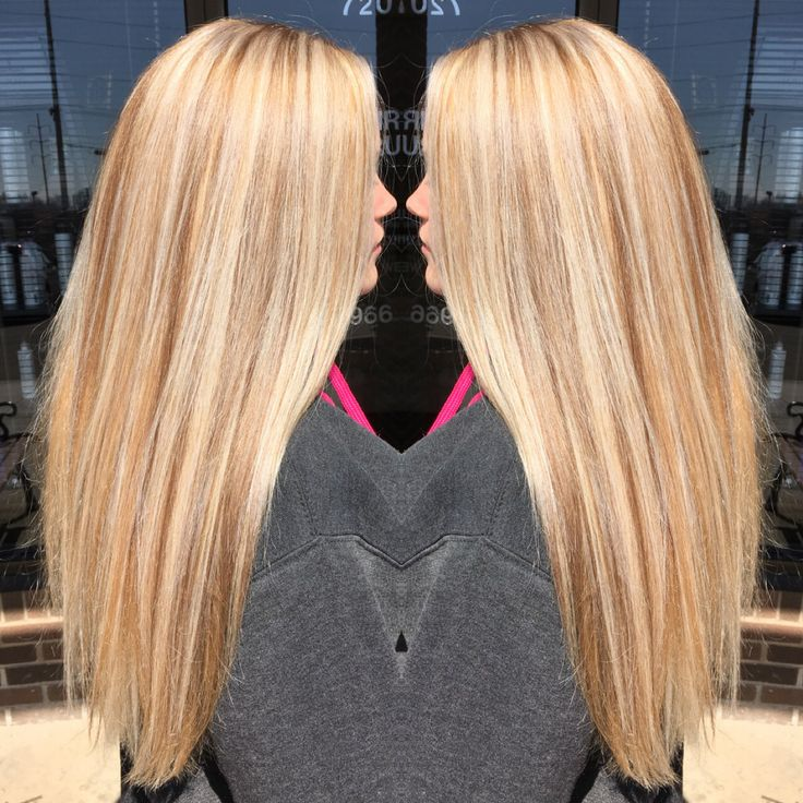 Golden Blonde Base With Platinum Highlights And Neutral