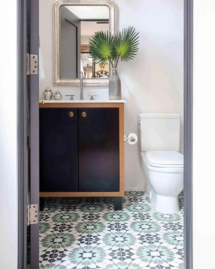 "2,292 Likes, 19 Comments - Cement Tile Shop (@cementtileshop) on Instagram: ""Everyday would be like relaxing in a Mediterranean oasis in this bath featuring the in stock…"""