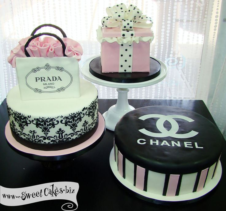 Prada-Chanel-gift box cakes                                                                                                                                                     More