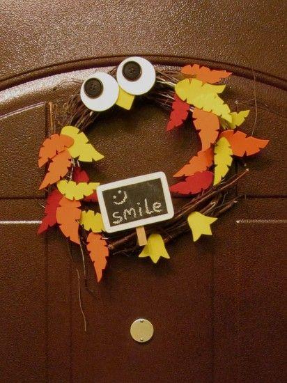 Осенние венки своими руками на дверь