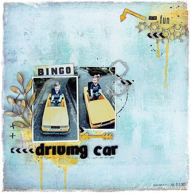 DT Blue Fern Studios - 7 DOTS STUDIO - DRIVING CAR IS FUN - BY KRISTINE HENANGER