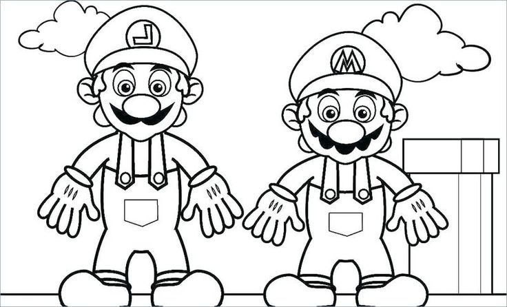 Super Mario Coloring Pages Coloring Pages For Kids