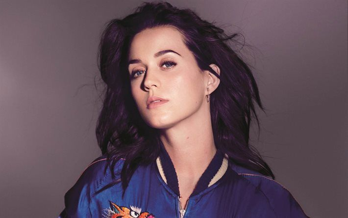 Katy Perry, Portrait, American singer, brunette, beautiful woman