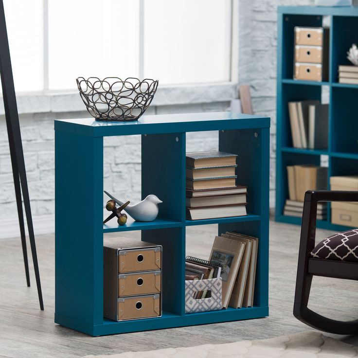 Hudson 4-Cube Bookcase - Store a wide range of items from collectibles to multimedia in the modern-style Hudson 4-Cube Bookcase. This compact unit features four compartments t...