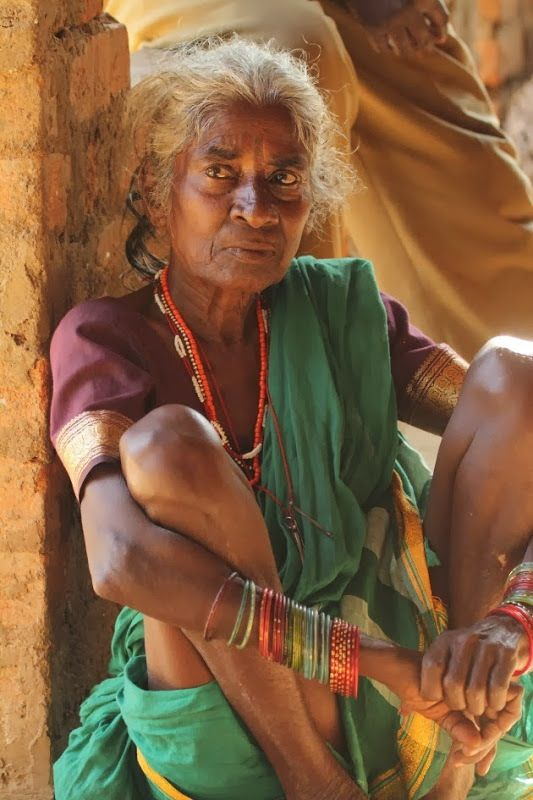 Elderly Gowli Tribe woman, Dandeli, NorthWest Karnataka, India.