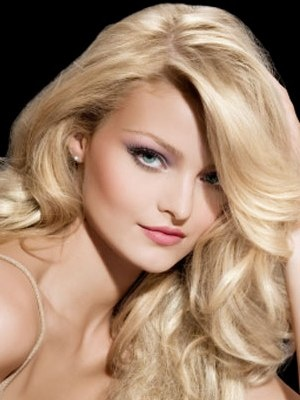 thick blonde hair :)