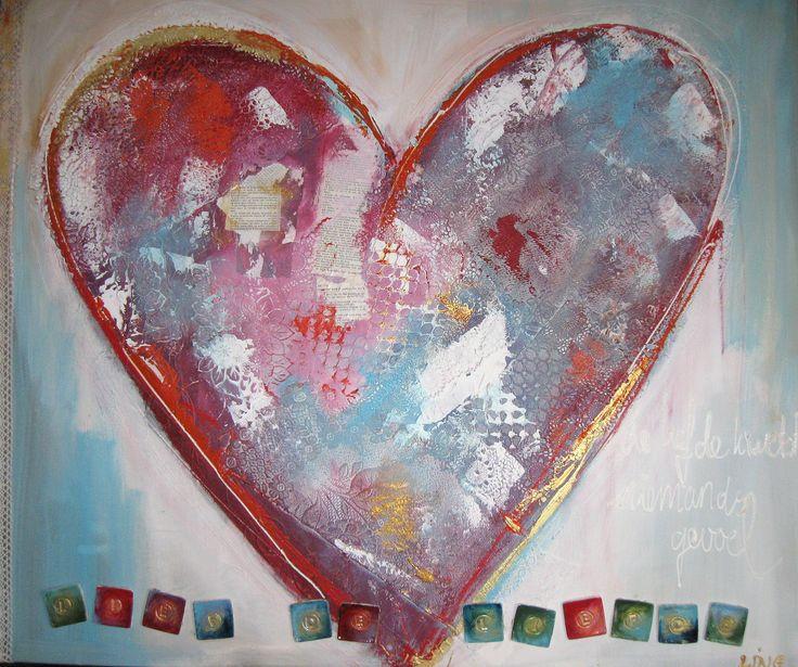 Lief de liefde mixed media