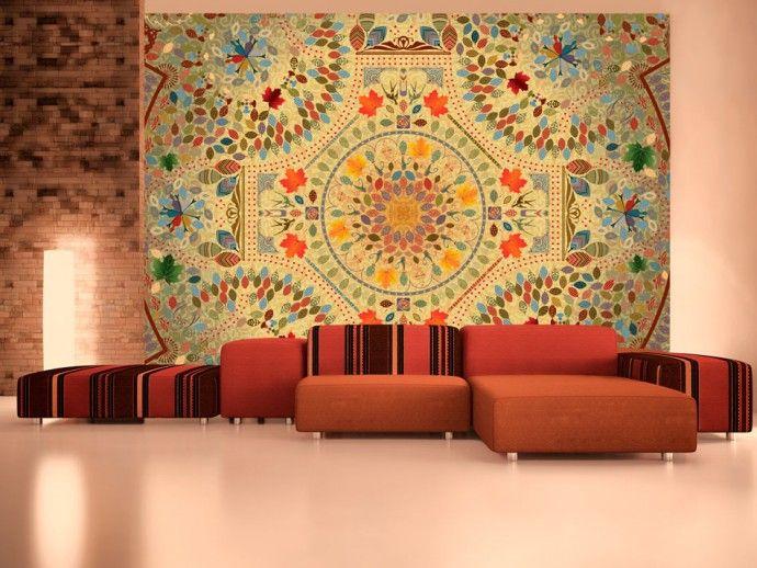 Фотообои в форме мозаики - идельный способ оригинального украшения стены #фотообои #обои #мозаика #дизайнстен #дизайнинтерьера #настенныйдекор