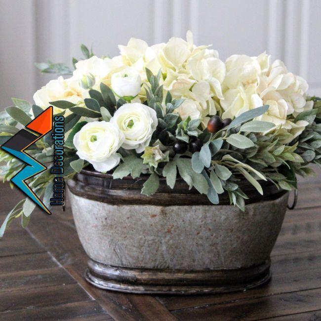 Hydrangeas Mini Ranunculus And Olive Stems Farmhouse Decor Pinterest Flowers Flower Arrangements And Floral Arrangements Flower Arrangements Floral Arrangements Flowers