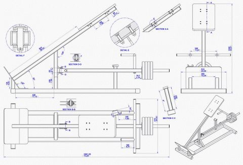 Incline Lever Row Plan Assembly Drawing Plans To Build