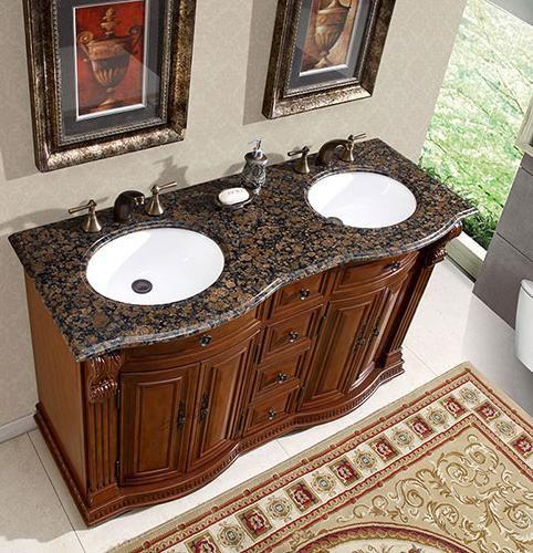 Bathroom Vanities, Big And Elegant Rug In The Great ...