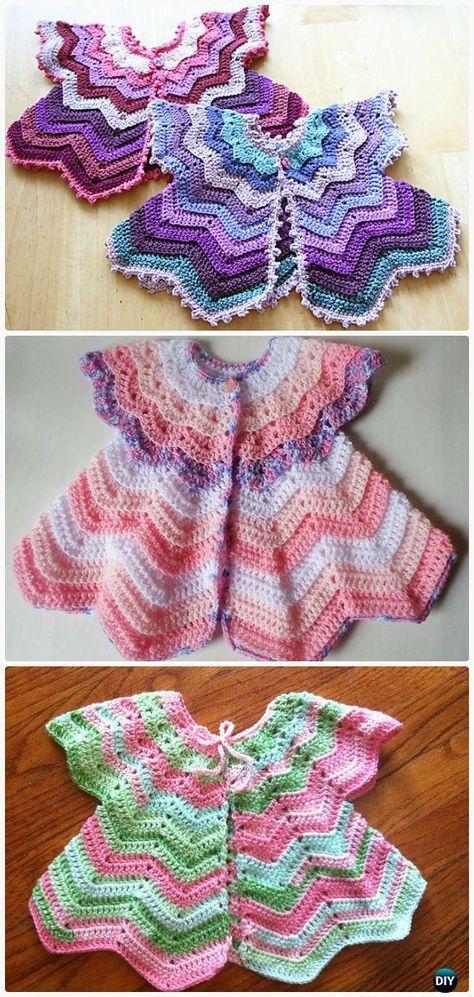Crochet Star-Shaped Baby Cardigan Sweater Vest Pattern- Crochet Kid's Sweater Coat Free Patterns