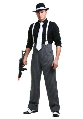 Step back into the 1920s in this men's mafia underboss costume. It's an exclusive mobster costume for men.