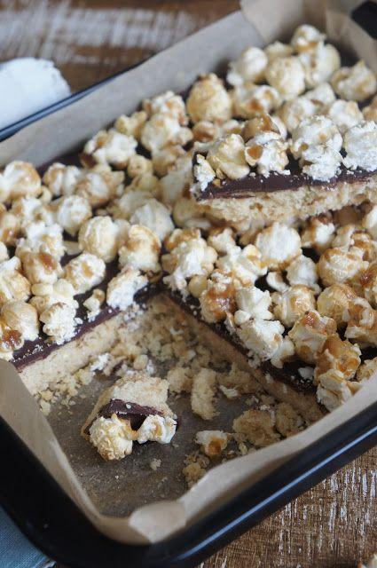 Fräulein Zuckerbäckerin: Shortbread-Schoko-Popcorn Bars