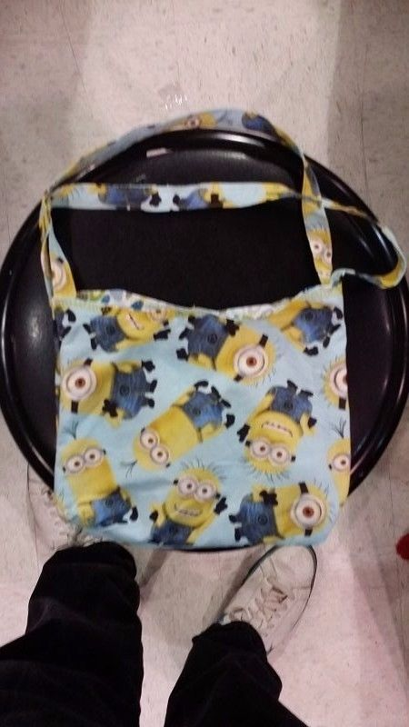 Minions Purse, Hand Crafted in Ozarks, 9 x 7.5 inches #Handmade #Clutch
