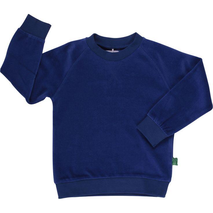 Freds World trøje i velour (blå)