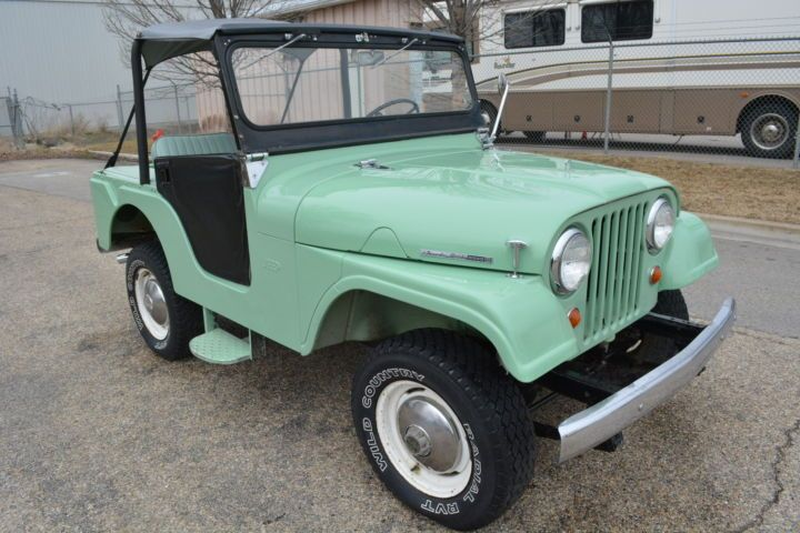 """'65 Jeep Tuxedo Park Mark IV ... stand-alone model offered by Kaiser until 1969--previously the Tuxedo Park had been offered as a trim package to the CJ5/6 ... w/ four-cylinder """"Hurricane"""" engine – a carry-over from the Willys era rated at 75 HP"""