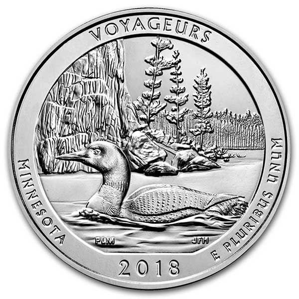 2018 D Voyageurs National Park Quarter Dollar