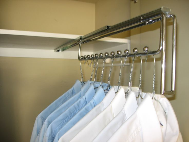 TANSEL BEDROOM/WARDROBE STORAGE: Pull Out Wire Sliding Hanger