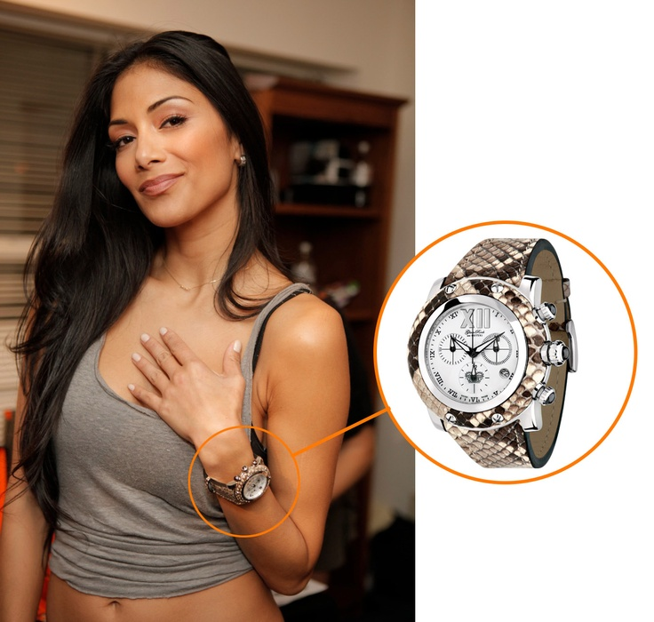 nicole scherzinger wearing her miami python watch celebrities in glam rock pinterest On celebrity rocks watches