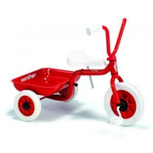 Winther cykel med lad i rød