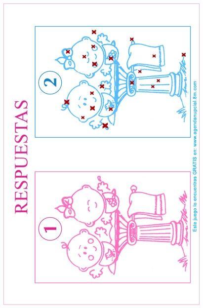 juego impreso para baby shower soluci n del juego encuentra las 20