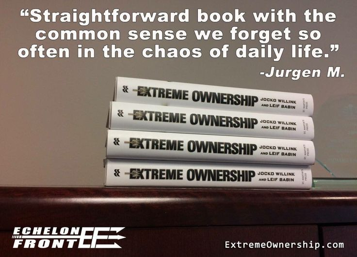 Wow, my quote quoted 😘👊🏻 #ExtremeOwnership
