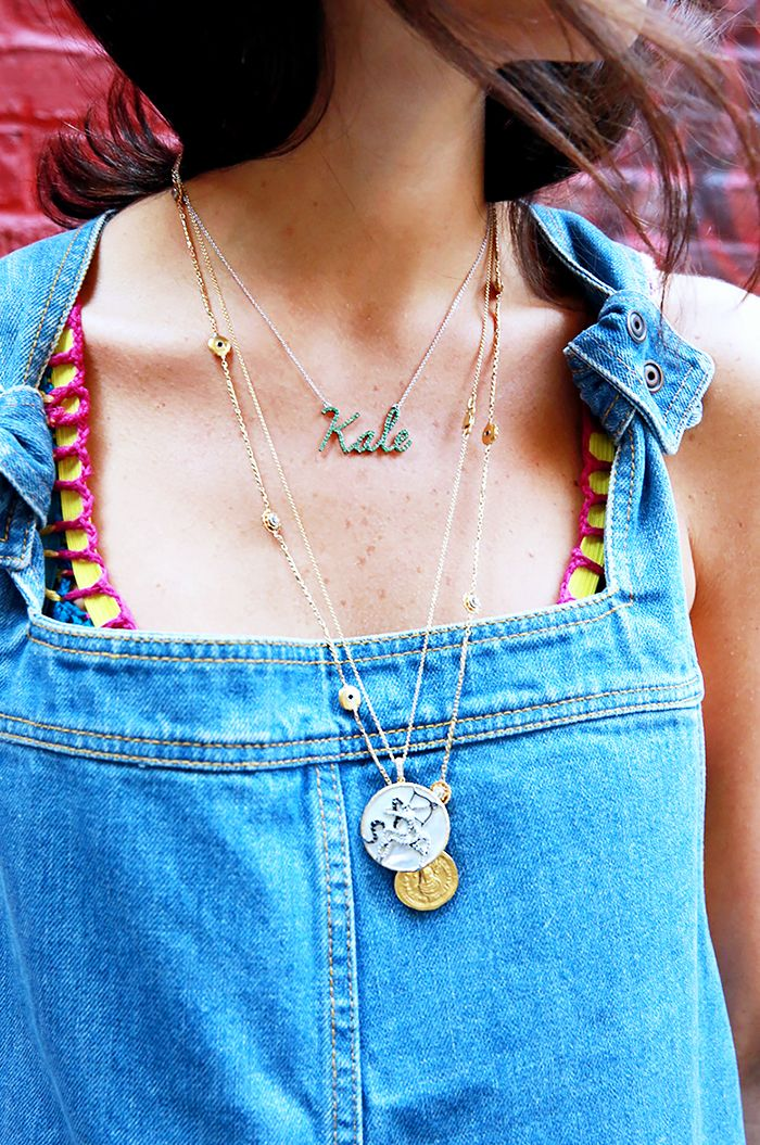 Necklace Layering 101: Everything You Need to Master the Look via @WhoWhatWear