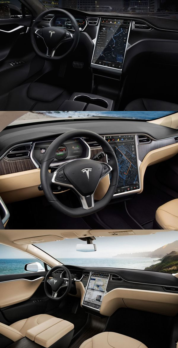 Only one problem; need a gear stick!!  Tesla Model S Interior