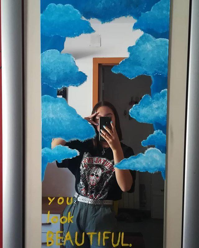 Room Ideas Aesthetic Mirror #roomdecor #dorm # ...