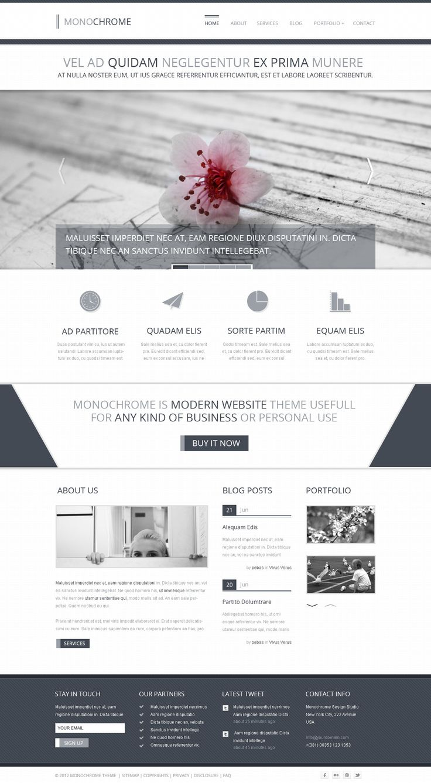 Monochrome - Creative PSD Template