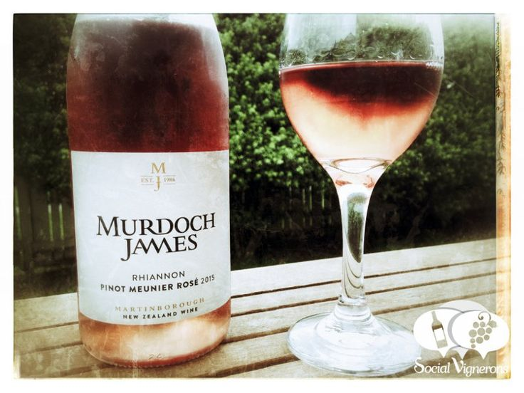 Tasting Notes & Wine Review of Murdoch James Rhiannon Pinot Meunier Rose, Martinborough. Still rose wine made from Champagne grape variety, interesting